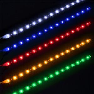 "LemonBest-Waterproof 30cm/11.8"" Car Auto Flexible LED Strip Light High Power 12V 15SMD LED Daytime Running Light Decorative Car DRL"