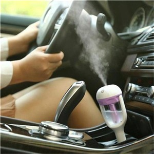 Lemonbest-(Purple)Car Charger Port 50ml Ultrasonic Auto Car Air Humidifier   Aromatherapy Diffuser Purifier Nebulizer Vehicular Aroma Mist