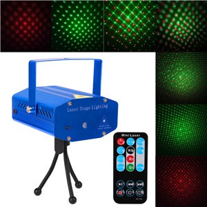 LemonBest-Mini DJ Club Disco Projector Stage Laser Light Green Red Voice   Control Function with Remote