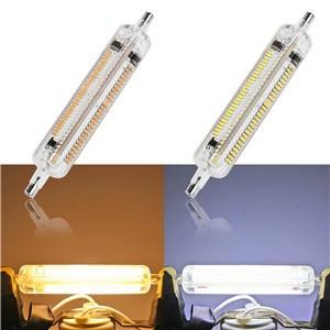Silicone 360°R7S 3014SMD 15W LED Horizontal Plug Lights Flood Light Corn Lamp Bulb Warm White/ Cool White AC 220V