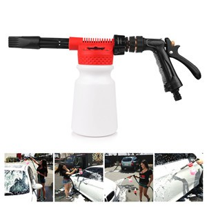 LemonBest-Multifunctional Car Cleaning Foam Gun Washing Foamaster Gun Water Soap Shampoo Sprayer 900ml for Van Motorcycle Vehicle