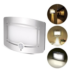 LemonBest-Motion Sensor Activated LED Wall Sconce Battery Operated Wireless Night Light Auto On/Off for Hallway Pathway Staircase Wall