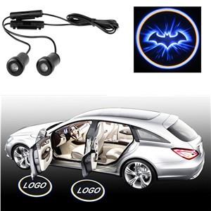 LemonBest-2X Car Door LED Welcome Laser Projector Logo Ghost Shadow Light for Batman