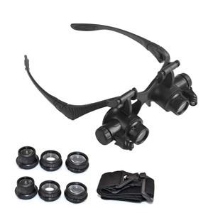 LemonBest-Watch repair magnifier,Glasses Loupe 10X 15X 20X 25X,LED Jeweler Watch Repair Magnifier