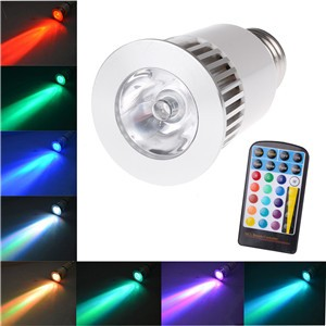 5W E27 16 Colors High Power RGB LED Light 4 Mode Flashlight Dimmable Spotlight Lamp