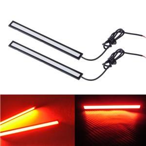 """2pcs Waterproof 17cm/6.7"""" 6W Red LED COB Daytime Running Light Fog Lamp for Car DC 12V"""