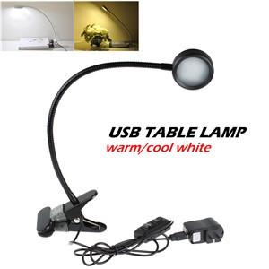 Lemonbest-Flexible USB Clip Desk Bed Reading Lamp Dimmable 10 SMD LED Light for PC Laptop Notebook Netbook