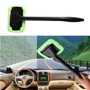 LemonBest-Microfiber Windshield Wonder Cleaning Tool Car Glass Window Cleaner with 2 pads