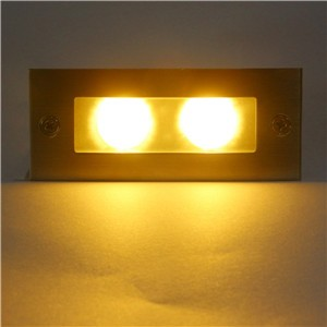 2W LED Recessed Step Stair Light Waterproof Wall Corner Lamp Basement Porch Pathway Bulb Cool White/Cool White AC 85-265V