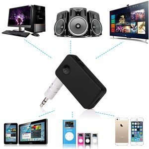 3.5mm Bluetooth 3.0 Receiver Stereo Audio A2DP Music Transmitter Adapter for TV DVD Car MP3 MP4