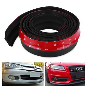 Universal TPVC Car Sticker Lip Skirt Protector Car Front Lip Bumper Car Rubber Strip 250cm Length 65mm Width
