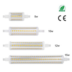 5W/10W/12W/15W 360°Beam 78mm R7S 2835SMD Horizontal Plug Lights Flood Light Corn Lamp Bulb Warm White/Cool White AC 85-265V