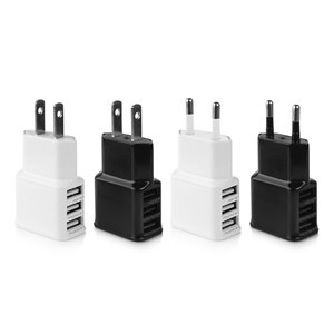 3 USB Port Wall Charger 2A Home Travel Adapter For Samsung Galaxy Tab iPhone iPad EU Plug/US Plug