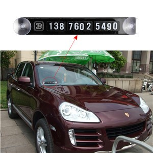 Car Magnetic Puzzle Parking Plate Temporary Stop Sign Telephone Number Plates