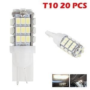 LemonBest-20pcs T10/921/194 5050 42SMD LED Car Bulbs Light Rear Lamp Reverse RV Trailer Decoded Warm White 12V