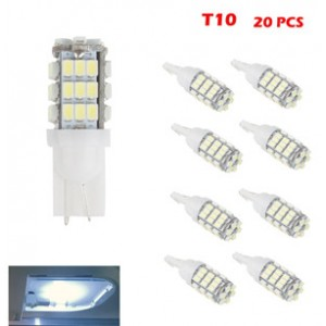 20pcs T10/921/194 5050 42SMD LED Car Bulbs Light Rear Lamp Reverse RV Trailer Decoded Cool White 12V