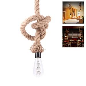 LemonBest-2.5m/8.2ft Braided Rope Vintage Industrial Loft Ceiling Lamp Holder Lighting E27 Socket (No Bulb Included)