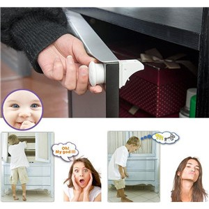 Universal Baby Child Safety Magnetic Cabinet Locks Drawer Lock  (4 Locks + 1 Key)