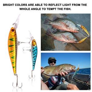 10pcs Dive Artificial Minnow Hooks Bait Hard Fishing Lures