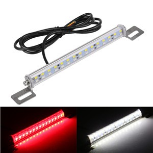 Car 30 LED Light Bar Brake Lights Tail Reverse Rear License Plate Lamp Red White