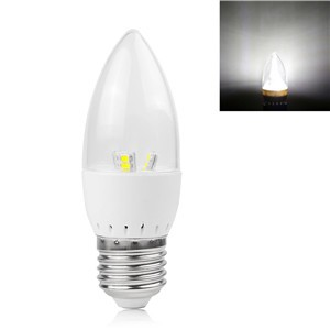 5W E27 LED Candle Bulb 2835SMD Spotlight Lamp Cool White/Warm White AC 85-265V