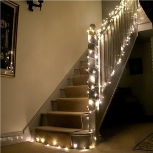 20m/66ft 18W 200-LED String Fairy Light Lamp Indoor Outdoor Warm White for Xmas Christmas Wedding Party Warm White US Plug 110V
