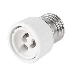 5Pcs E27 to GU10 Fireproof Connector Lamp Holder Converters Socket Adapter Light Bulb Base
