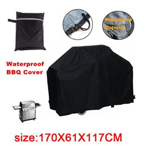 LemonBest-Waterproof BBQ Cover Large Cover Protector for Gas Charcoal Electric Barbeque Grill (170*61*117cm)