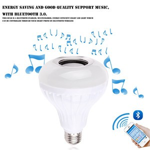 Bluetooth 3.0 Music Audio RGB Speaker Light RGB 6W E27 LED Bulb Lamp for iOS Android