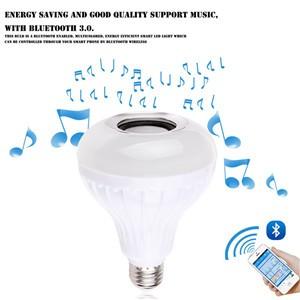 Bluetooth 3.0 Music Audio RGB Speaker Light RGB 6W E27 LED Bulb Lamp for iOS Android