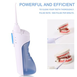 Cordless Ultrasonic Dental Water Jet Oral Irrigator Teethwash Machine for Home Travel Use Teeth Clean Battery Operated