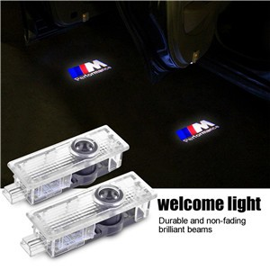 2pcs Ghost Shadow LED Car Door Welcome Light Projector Lamp for BMW