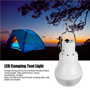 Solar LED Camping Tent Light Rechargeable Night Lamp Lantern for Outdoor Hiking