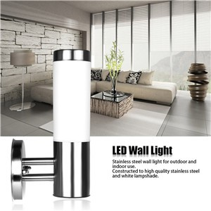 Waterproof Stainless Steel E27 LED Wall Light Outdoor IP65 Wall Lamp AC 220-230V