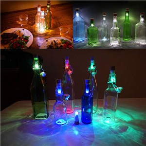 Protable USB RGB/Blue/White LED Wine Bottle Light Cork Stopper Rechargeable Lamp Bar Party Decor