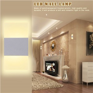 Modern Acrylic 3W LED Wall Lamp Bedside Light Home Indoor Lighting Decoration Warm White AC 85-265V Right Corner