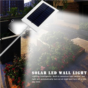 LED Waterproof Solar Wall Light Street Light Garden Lamp Landscape Lamp Outdoor Auto ON/OFF At Night