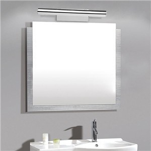 Modern Stainless Steel 5W Bathroom Mirror Light 5050SMD LED Wall Lamp 40cm Length Cool White with Switch for Make-up Mirror Bedroom Bathroom Dresser AC 85-265V