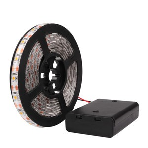 RGB/Warm/Cool SMD 3528 LED Strip Light Waterproof String Lamp with Control Box 2m/1m/0.5m