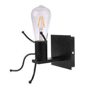 Creative Man Shape Wall Lamp Cute Light Sconce E27 Socket AC 85-240V