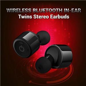 Mini True Wireless Bluetooth Twins Stereo In-Ear Headset Earbuds Earphone Black