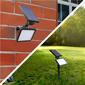 Waterproof 600LM Solar SMD LED Lawn Light Wall Lamp Cool White IP65 Outdoor Garden Path Lamp with Spike