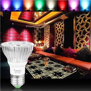 10W PAR20 E27 RGB LED Bulb Stage Lamp Light 16 Colors Remote Control Flash Strobe AC 85-265V