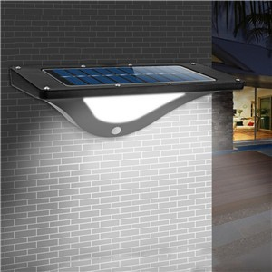 Waterproof Solar Motion Activated LED Light Wall Lamp Night Light Automatically ON at Night DIM/Hight Mode for Garden Patio Path Fence Stairways
