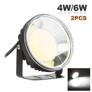 LemonBest-2pcs Round COB LED Car Fog Light Daytime Running Lamp Headligh 6000K Cool White