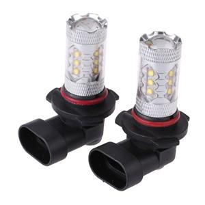 LemonBest-2 Pcs 9005 80W High Power LED White Car Fog Light Head Light Turn Signal Light Tail Brake Lamp Bulb