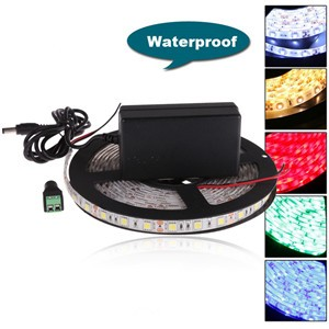 LemonBest - (Waterproof)  5M 12V Flexible SMD 3528 LED Strip Ribbon Rope Light Lamp 300leds 60leds/m For Cristmas Christmas Living Room Home Garden Decoration Lighting