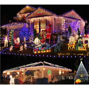 LemonBest-30m/98ft 18W Colorful LED String Fairy Light Lamp Indoor Outdoor for Xmas   Christmas Wedding Party EU Plug 220V