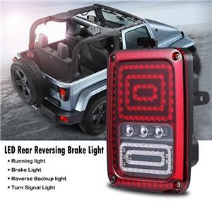 Snake Style Car LED Right Rear Reversing Brake Light Turn Signal Tail Light for 2007 - 2016 Jeep Wrangler JK