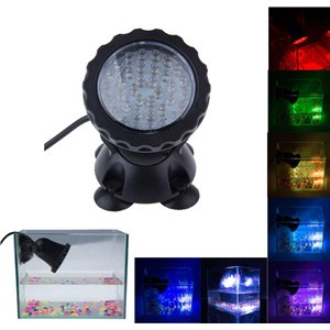 LemonBest - Multicolor RGB 36 LED Underwater Spot Light IP68 for Water Aquarium Garden Pond Fish Tank Lighting